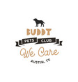 buddy pet club logo template pet silhouette vector image vector image