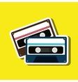 cassette tape design vector image vector image