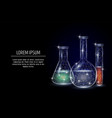chemistry geometric polygonal art style vector image