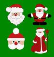 christmas card santa vector image vector image