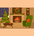 christmas winter holidays furniture and interior vector image vector image