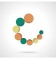 Circular loader flat color icon vector image vector image