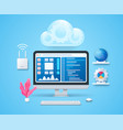 cloud computing concept in 3d style vector image