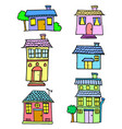 collection stock of house set design vector image vector image