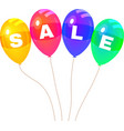 Colorflus Balloons Sale vector image