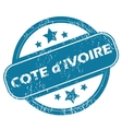 COTE D IVOIRE round stamp vector image