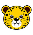 cute cheetah cute animal faces vector image vector image