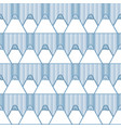 cute seamless pattern with cartoon blue pencils vector image