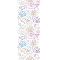 Cute smiling snails vertical seamless pattern vector image