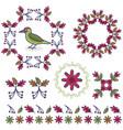 cute woodpecker cartoon motif vector image vector image
