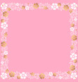 decorative square frame of white and golden vector image vector image