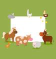 farm animals frame cow vector image