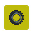 flat color black olive icon vector image vector image