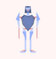 flat shading style icon toy robot vector image vector image