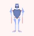 Flat shading style icon toy robot