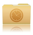 Folder with Clock vector image vector image