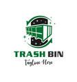 garbage collection modern logo design vector image