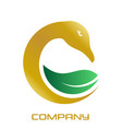 golden goose logo vector image vector image