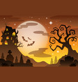 halloween topic background 2 vector image vector image