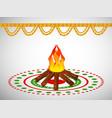 hindu festival lohri background vector image vector image