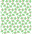 Holly berries seamless pattern color on white vector image vector image