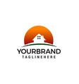 house sun logo design concept template vector image vector image