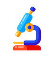 icon school microscope in flat style vector image