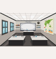 interior of a chemistry lab vector image vector image