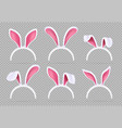 isolated realistic rabbit ears funny easter bunny vector image vector image