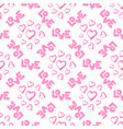 love seamless pattern with hearts vector image vector image