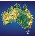 Low Poly Map of Australia Design vector image