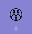 m logo m monogram vector image
