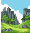 nature rock mountain landscape vector image vector image