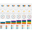 Numbered 30 Templates Infographics set 3 4 5 6 7 8 vector image vector image
