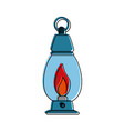 oil lamp camping outdoors icon image vector image vector image