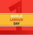 one may labour day banner vector image vector image