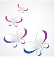 paper butterflies vector image vector image