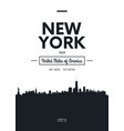 poster city skyline new york flat style vector image