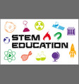 poster design for stem education vector image