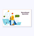 recruitment concept for web page openly greeting vector image