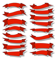 Red ribbons-set vector image vector image