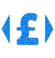 Regulate Pound Price Grainy Texture Icon vector image vector image