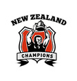 rugby player new zealand champions vector image vector image