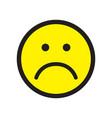 sad face icon unhappy face symbol vector image