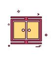 safe icon design vector image