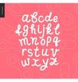 script alphabet 8 vector image vector image