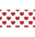seamless decorative hearts vector image