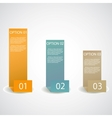 set infographic options banner vector image vector image