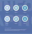 set of 6 editable trade outline icons includes vector image vector image