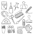 stationery sketch images vector image